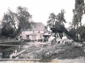 M Hle-Sandweier-um-1900-300x221 in Die Mühle in Sandweier