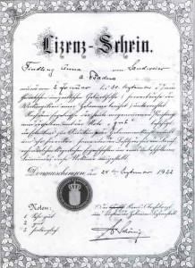 Abschlu Zeugnis-der-Hebammenschule-f R-Anna-Findling-1922-218x300 in Zur Geschichte der Hebammen in Sandweier