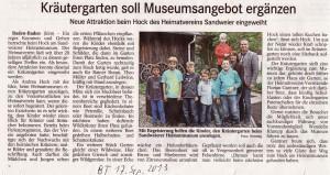 Zeitungsbericht-BT-17-Sep-2013-von-der-Einweihung-Kr Utergarten-Hock-2013-300x159 in Kräutergarten