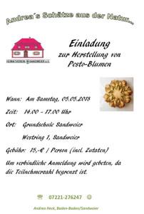Einladung-Mai-2018-Pestoblumen-202x300 in Einladung zur Herstellung von Pesto-Blumen
